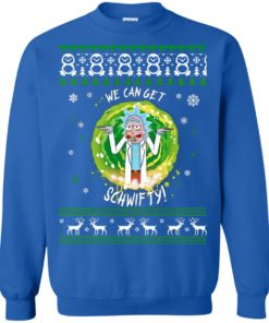 Rick And Morty Christmas Sweater.Rick And Morty We Can Get Schwifty Christmas Sweater