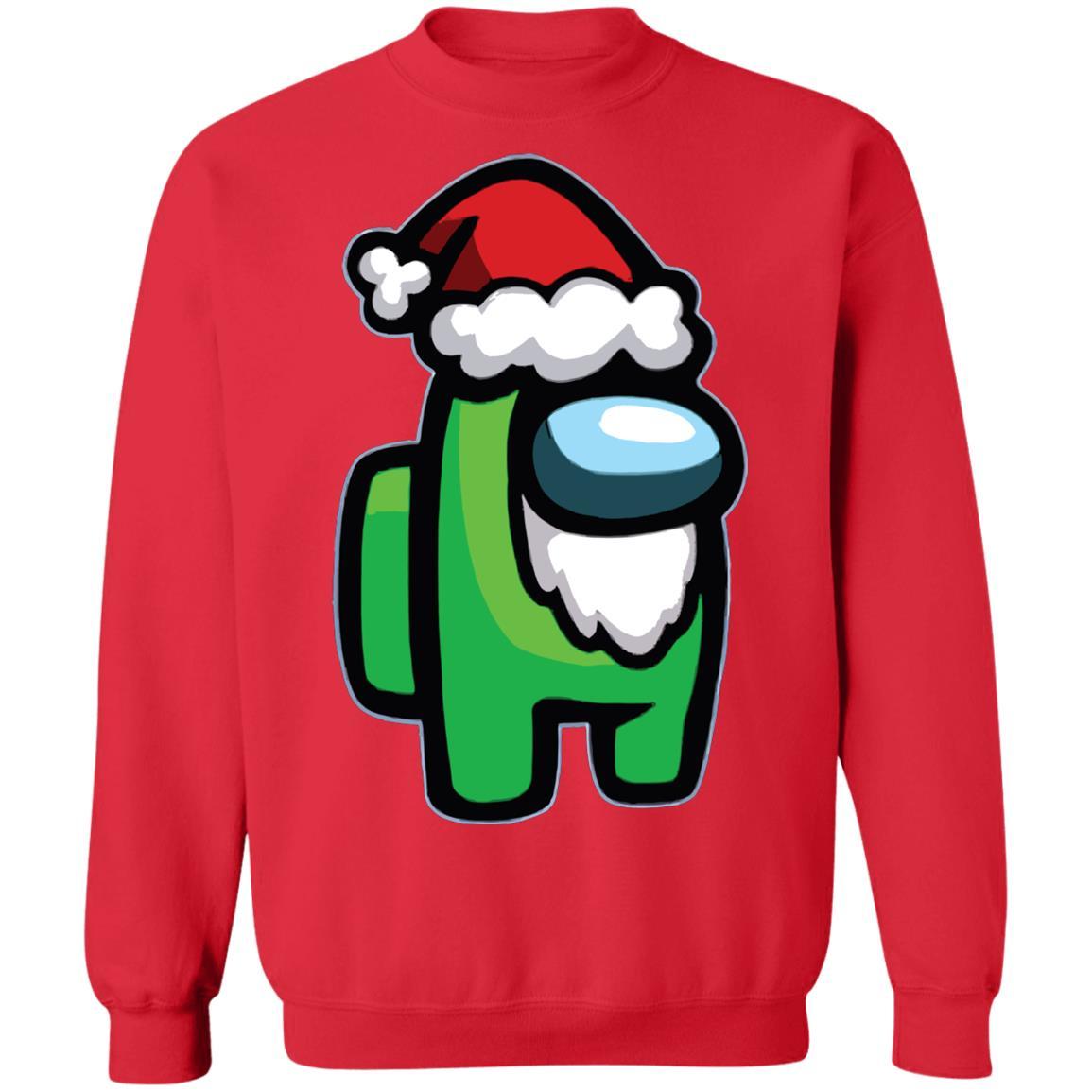 Among Us Santa Christmas Sweatshirt Cheeks Apparel